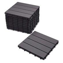 DIY地板阳台庭院花园卫生间浴室地板木塑塑木地板