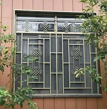 定制工艺仿木纹铝合金窗花,镂空精雕机雕刻窗花