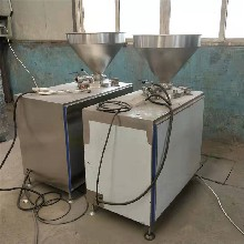 猪肉肠灌肠机液压灌肠机价格纯肉肠灌肠机双管产量高图片