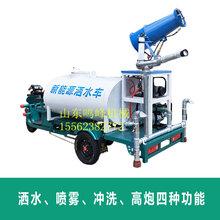 小型電動灑水車多少方噴灑除塵多用途電動灑水車圖片