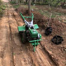 陜西果農果園管理開溝微耕機旋耕松土多用途耕地機圖片