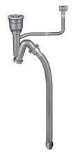 批发2寸50吹塑管201料防臭防漏新型快接不锈钢下水器图片