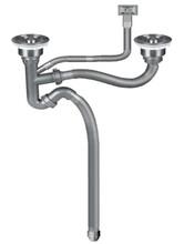 下水廠家批發歐順諾牌40吹塑管防漏防堵雙槽下水器圖片