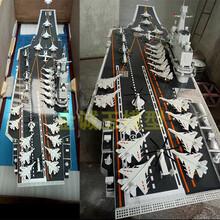 航空母舰大比例模型舰艇金属铁艺摆件电影演出仿真模型可定制图片