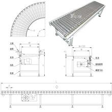 伸缩辊筒机生产分拣倾斜输送滚筒圣兴电子链式滚筒输送机图片