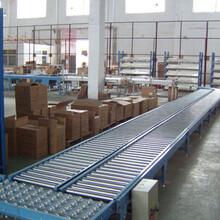 安陽伸縮輥筒輸送機生產分揀水平輸送滾筒線圖片