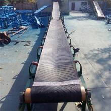 液壓升降蝶翼式皮帶輸送機糧食顆粒大傾角裝車皮帶輸送機圖片