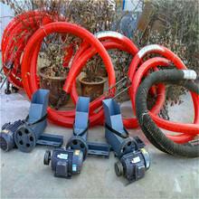 車載抽糧機水泥粉輸送機六九重工裝車灌包雙管軟絞龍圖片