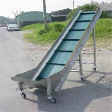 固定式擋邊輸送機直銷裝卸貨傳送帶圖片