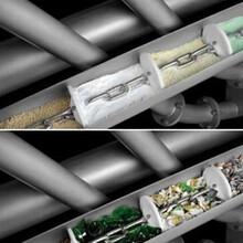 鍍鋅圓管管鏈提升機熱銷石英砂灌倉垂直管鏈機圖片