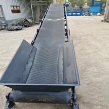 石英砂顆粒v型防滑膠帶輸送機大型倉庫帶式輸送機圖片