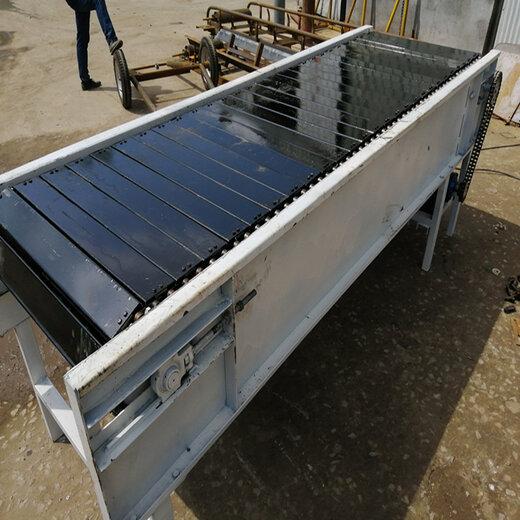 鏈板機廠鍍鋅板鏈板輸送機圣興電子石頭輸送機