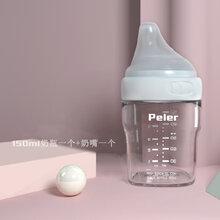 深圳方形偏心高硼硅奶瓶贴牌加工oemodm广东玻璃奶瓶源头工厂图片