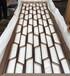 河北星级酒店大堂装饰镜面玫瑰金45°角密拼缝不锈钢屏风
