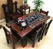 老船木茶台老船木茶桌椅组合批发经典老船木小茶桌整装