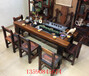 老船木流水茶桌椅组合新中式实木功夫茶桌茶台阳台小户型茶几茶艺桌椅