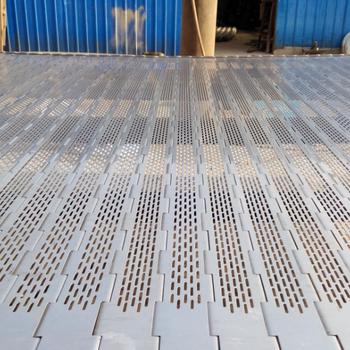 供应304不锈钢传动链板冲孔链板节距38.1耐高温输送链板