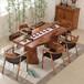 实木茶桌椅组合新中式大板茶桌原木泡茶桌简约现代茶几全实木茶台