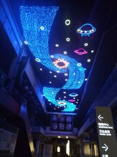 外墻幕墻燈畫,燈飾畫制作,幕墻燈飾畫,商場節日燈飾