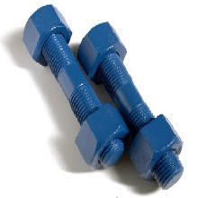 廠家生產PTFE特氟龍螺栓xylan涂覆螺母特氟龍牙條防腐螺栓圖片