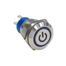 金屬按鈕開關,IP67防水雙色指示燈燈按鍵圖片