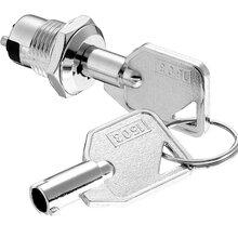 NS1053四脚两档钥匙开关_12mm双路电源锁_微型钥匙电子锁图片