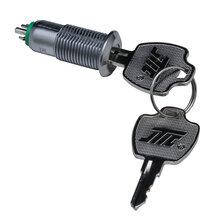 S1013系列微型三档电源锁_12mm钥匙开关_三档电源开关