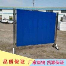 厂家专业订做波浪纹彩钢瓦施工围挡铁皮活动围栏方便移位拆卸图片