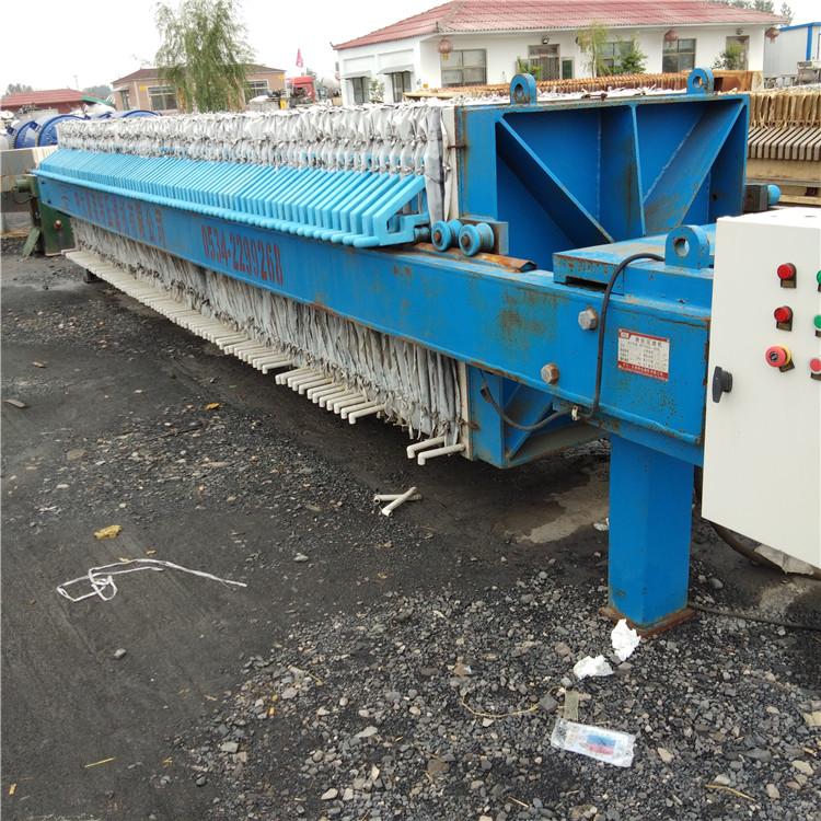 直销二手100平方污泥制动拉板离心机污泥脱水压滤机