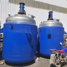 低价出售搪瓷反应釜二手电加热不锈钢反应釜二手反应釜价格图片