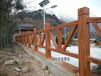 東莞木柵欄圍欄招標水泥護欄仿木欄桿施工