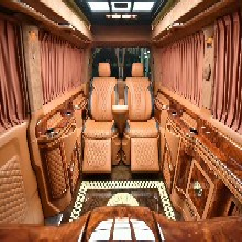 大众T5T6改装航空座椅隔断木地板豪华升级图片