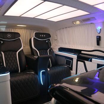 奔馳威霆改裝航空座椅改裝威霆邁巴赫頂燈豪華商務升級定制