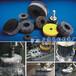 汽车压缩机缸盖去毛刺磨料丝圆盘刷,铝合金铸件端面抛光刷盘刷