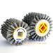 十字孔磨料丝抛光轮碳化硅滚刷平行轮刷平抛轮厂家力德毛刷制造厂