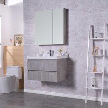 生态实木浴室柜批发,多层实木免漆浴室柜批发,河南浴室柜厂图片