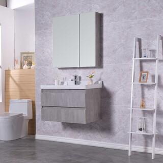 生态实木浴室柜批发,多层实木免漆浴室柜批发,河南浴室柜厂图片1