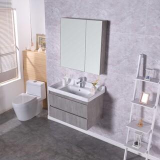 生态实木浴室柜批发,多层实木免漆浴室柜批发,河南浴室柜厂图片2