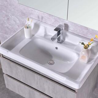 生态实木浴室柜批发,多层实木免漆浴室柜批发,河南浴室柜厂图片3