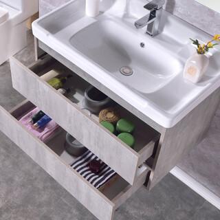 生态实木浴室柜批发,多层实木免漆浴室柜批发,河南浴室柜厂图片4