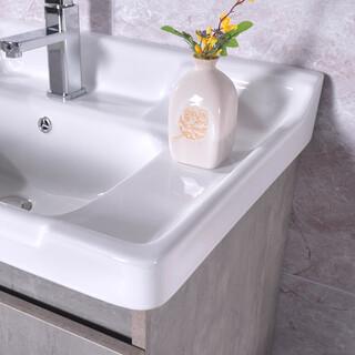 生态实木浴室柜批发,多层实木免漆浴室柜批发,河南浴室柜厂图片5