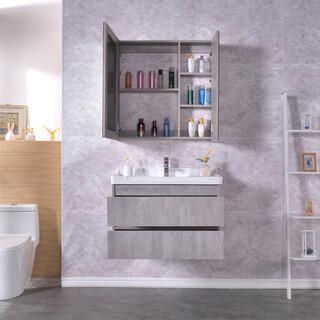 生态实木浴室柜批发,多层实木免漆浴室柜批发,河南浴室柜厂图片6