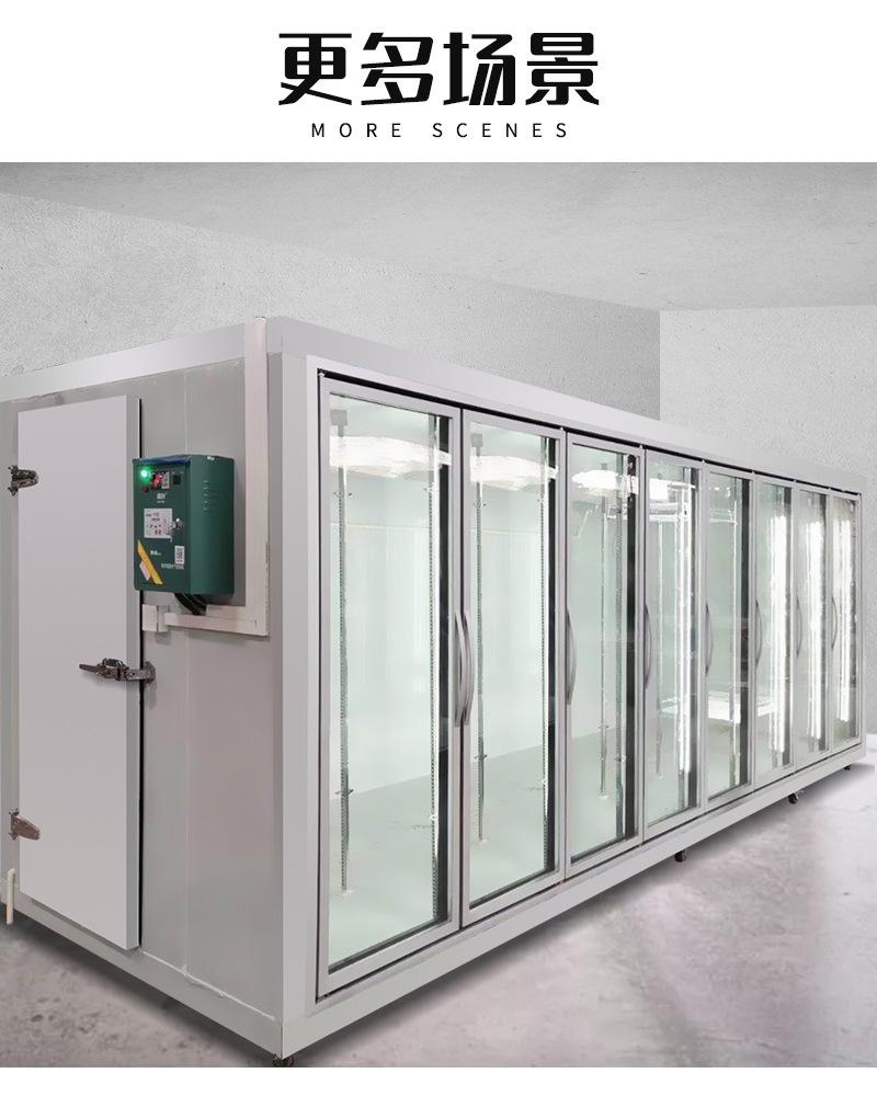 许昌超市冷库后补冷库商用冷库玻璃门冷库