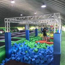 淘气堡室内大型蹦床乐园蹦床厂家定制图片