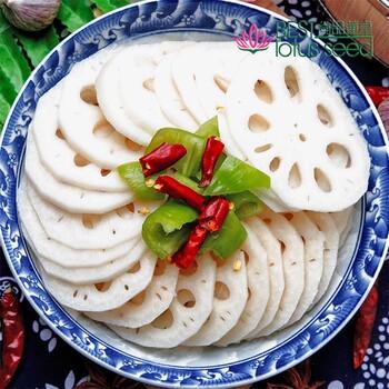 新鲜莲藕片粉藕片速冻保鲜冷冻特级高维生素菜藕片高营养低热量水生蔬菜产地批发供应
