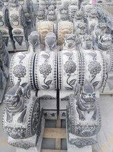 渭南石雕仿古拴马桩鱼缸抱鼓石门墩华表石狮子石凳子价格及厂家图片