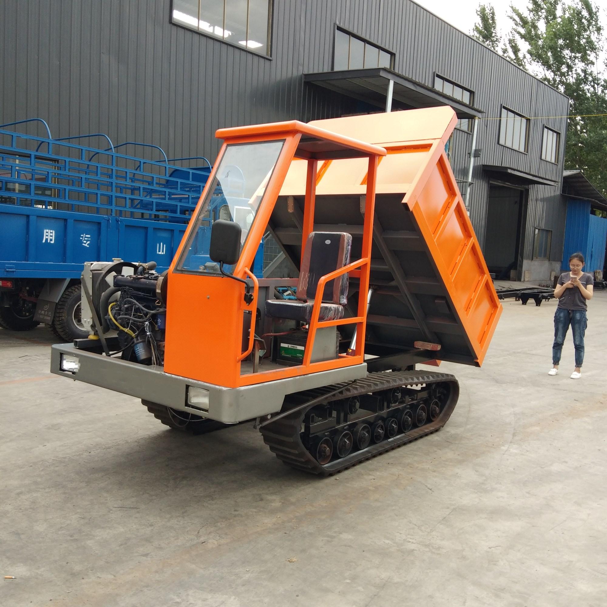小型履带运输车全地形多功能自卸履带运输车