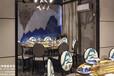 杭州余杭美食街湖廚時尚餐廳湘菜餐廳裝修設計實景案例
