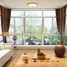 深铝门窗150-2.0断桥系列窗纱一体管式窗(内开内倒窗)