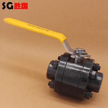 碳鋼球閥三片式手動焊接球閥